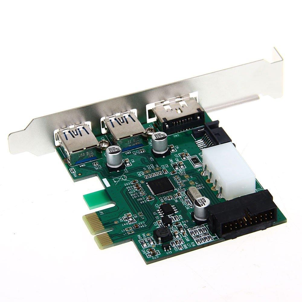 10 шт Оптовая столе 3 порта USB 3.0 20-Контактный силовой разъем eSATA разъем PCI Express-адаптер-контроллер