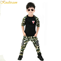 2017 New Camouflage Kids Clothing Set for Boys Girls Spring Autumn Cotton Camo Boys Sports Set