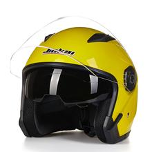 Helmet motorcycle open face capacete para motocicleta cascos para moto racing Jiekai motorcycle vintage helmets with dual lens(China (Mainland))