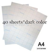 A4*40pcs Paper Dark Color Inkjet Heat Transfer Printing Paper Sticker Thermal Heat Transfers With Heat Press For T shirt(China (Mainland))