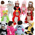 2016 New newborn Romper Baby Clothes Cotton Flannel bebes Rompers Jumpsuit Cartoon Animal Rompers Baby Clothing