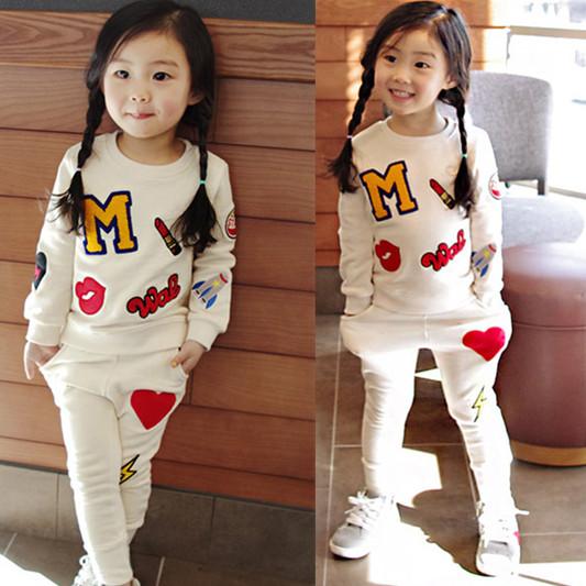 Гаджет  Retail 2015 New Girls Clothing Sets Baby Kids Clothes Children Clothing Full Sleeve T Shirt Leopard Legging , 2pc Set , 3 Color None Детские товары