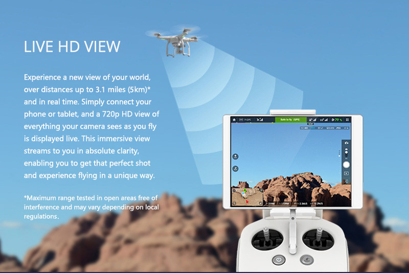 Original DJI Phantom 3 Advanced – Aircraft (Excludes Remote Controller and Battery Charger)
