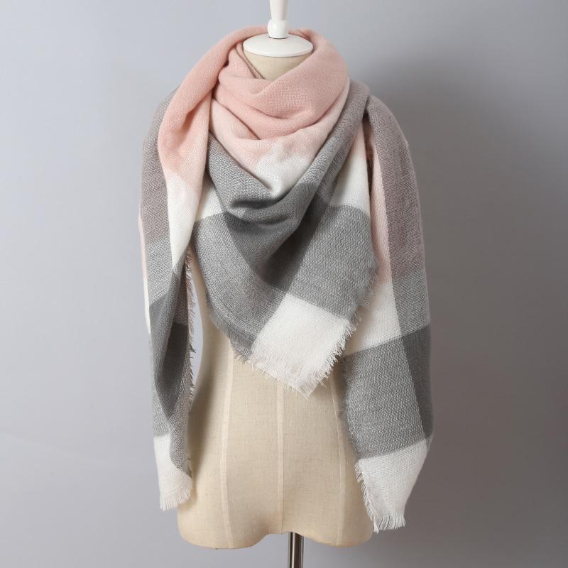 2016 Brand Cashmere Design Triangle Scarf Plaid Fashion Warm in Winter Shawl For Women pashmina shawl M8062(China (Mainland))