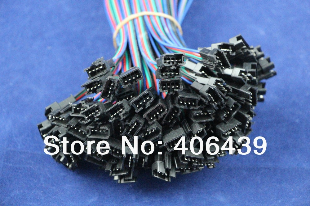 4pins cable wires LED Connector WS2801 led pixel strip;male connector female connector;100sets/lot - SCOTT Store store