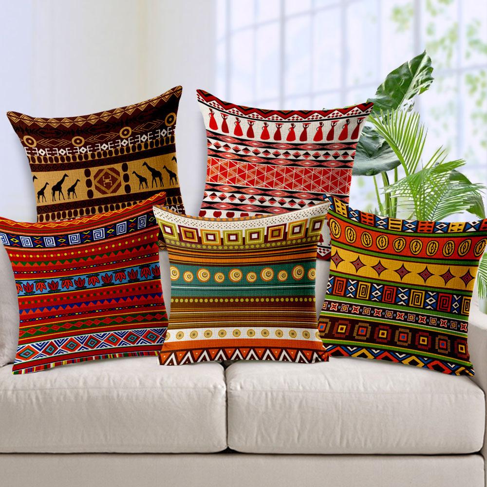Cojines Sofa Bohemian Style Capa De Almofada Almofadas Para Sofa Cushion Cover Funda Cojin Geometric Design Cushions Home Decor(China (Mainland))