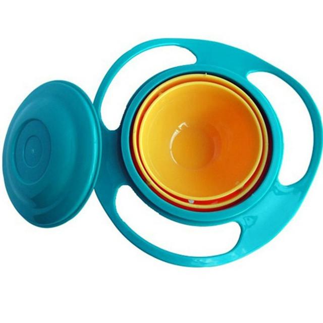 Дети посуда номера разливов чаша игрушку блюда универсальный 360 поворот избежать ...