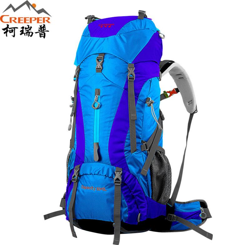 New Men's Climbing Backpacks Outdoor 65L Waterproof Nylon Travel Sport Mountaineering Bags Leisure Hiking Backpack Backpacker(China (Mainland))
