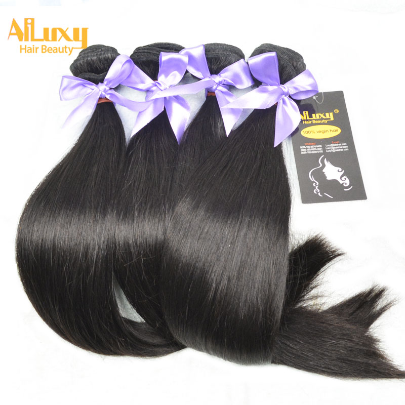 Eurasian Virgin Hair Extension,7A quality straight hair ,LUXY BRAND China factory price,400g/lot(China (Mainland))