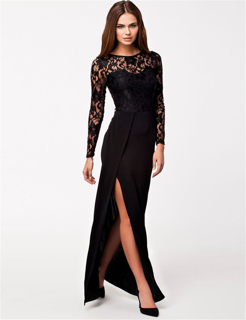 Long Lace Dresses With Sleeves - Gowns and Dress Ideas