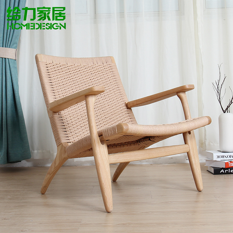 Ocio sof silla de madera de un solo sillas reclinables for Sillas de madera ikea