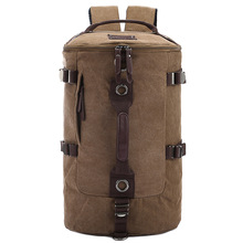 Large capacity man travel bag outdoor mountaineering backpack men bags hiking camping canvas bucket shoulder bag