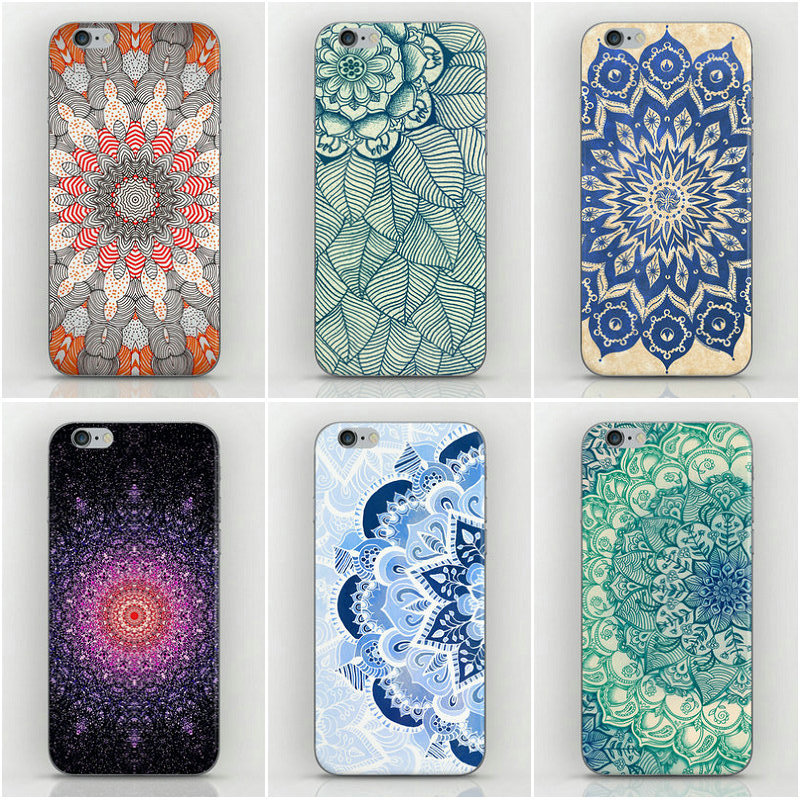 22 Designs Mandala Porcelain Flower Style PC Hard Back Cover Cases iPhone 6 5.5 inches Case plus - Dream Hero Shop store