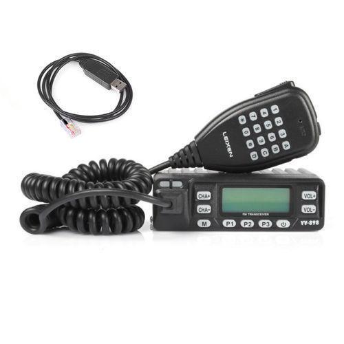 LEIXEN VV-898 DualBand Transceiver VHF/UHF 136-174/400-470MHz Kit 10W Mobile Car Radio + Programming Cable(China (Mainland))