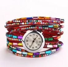 Envío gratis – en stock superior qualityâ + A + A + 2015 crazy venta del más nuevo estilo cristalino de moda mujer vestido reloj handwatch