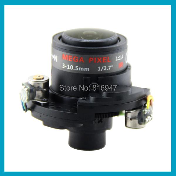 RICOM 3-10.5mm DC-Iris &amp; IR-CUT CCTV LENS for ip cameras, M14 count, NV03105DB.ICR-MFZ-B, electric lens.<br><br>Aliexpress