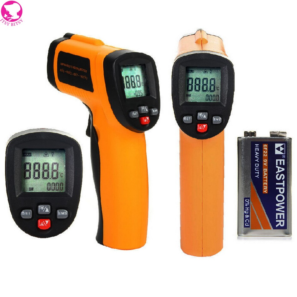 Battery Included GM320 Laser LCD Digital IR Infrared Thermometer Temperature Meter Gun Point -50~330 Degree Non-Contact(China (Mainland))