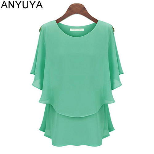 Женские блузки и Рубашки ANYUYA Blusa 2015 Batwing Camisa Roupas Ropa Mujer YG566 женские блузки и рубашки other 2015 ropa mujer w066