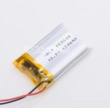3.7V lithium polymer battery / 052535/042535/502535 / 400MAH / MP3 / MP4 small toys