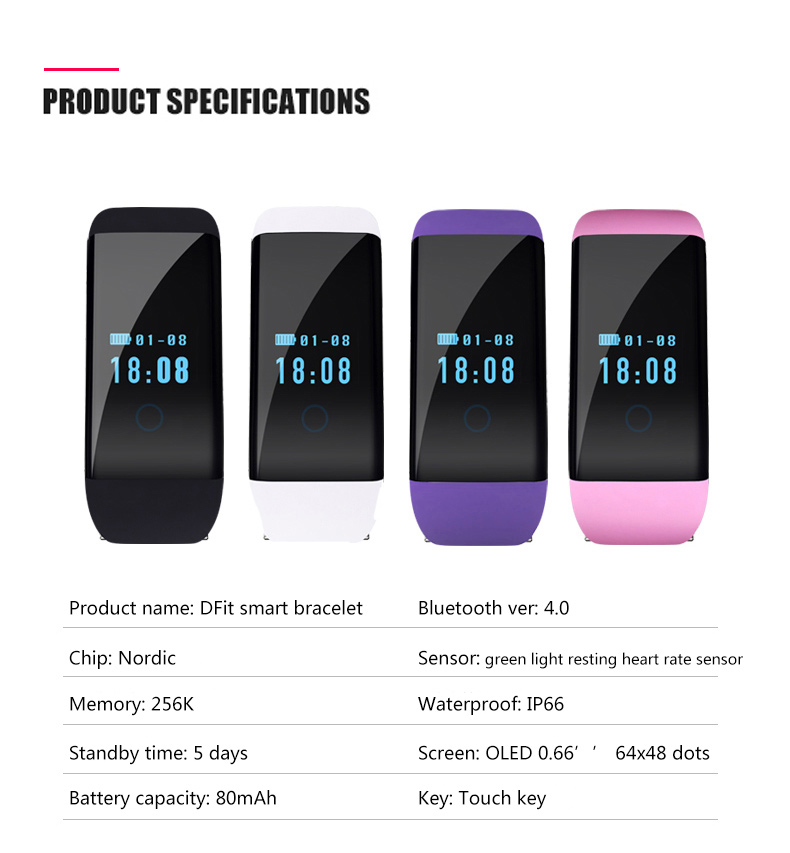 BOZLUN D21 Men Women Smart Bracelet Heart Rate Monitor Call Reminder Outdoor Sports Watches Sleep Tracker Digital Wristwatches