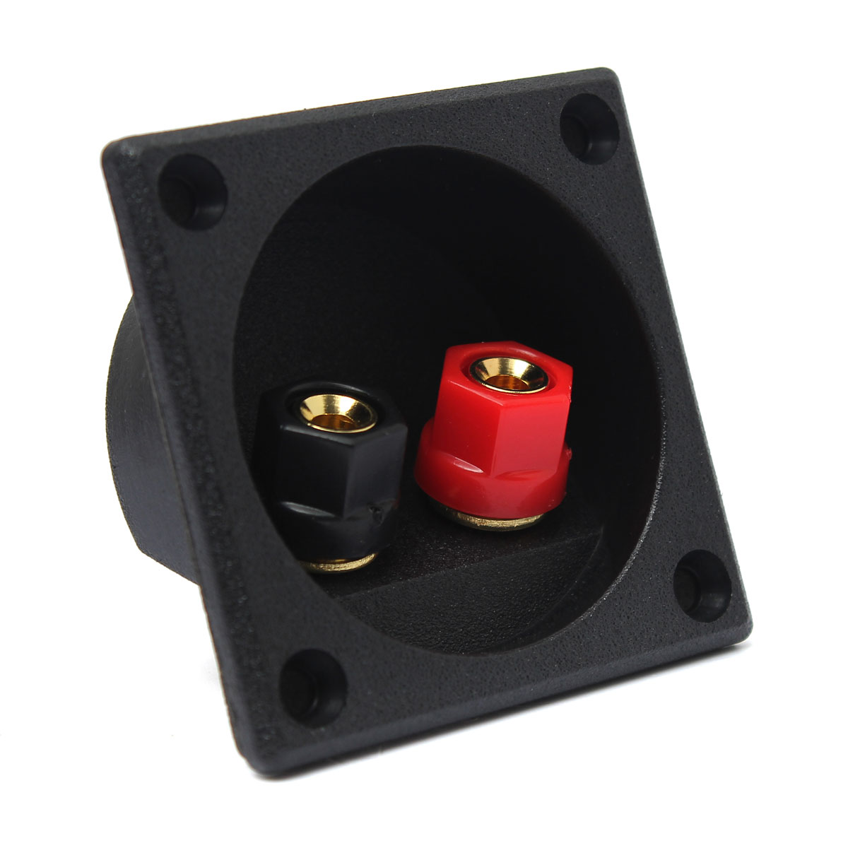 High Quality 1PC Square Binding Post Type Speaker Box Terminal Board Cup Wire Cable Box Connector(China (Mainland))