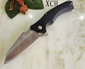 Large Snake XJ10 Folding Blade Knife 9Cr G10 Double Ball Bearings Flipper Tactical Knife Camping Outdoor