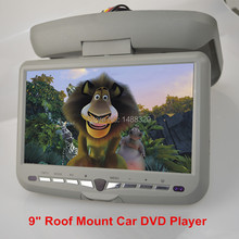 "New Fashionable Anti-shock 9"" LED Digital Screen Roof Car DVD Player Flip Down Car Monitor with USB SD IR FM GAME Joystick(China (Mainland))"