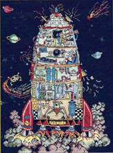 Top Quality popular hotselling counted cross stitch kit rocket ship in the space ET Bothy Threads(China (Mainland))