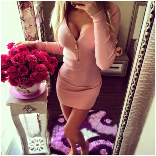 dress 2016 plus size sexy bandage cheap clothes china short elbise robe femme vestido full sleeve natural color vestido curto