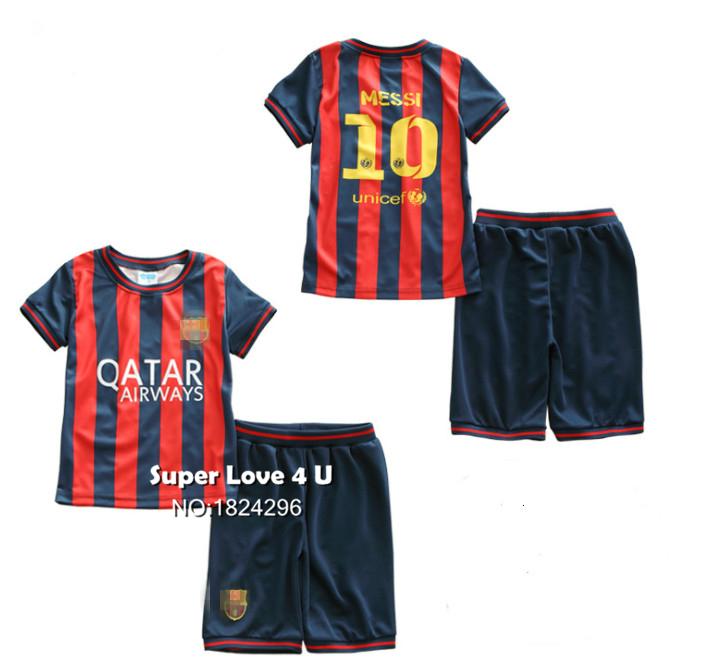 1-5T Kids/Children/Baby Football Kits Jerseys Maillot De Foot/Surverement Toddler Camiseta/Jersey/Clothes Set For Boys/Girls(China (Mainland))