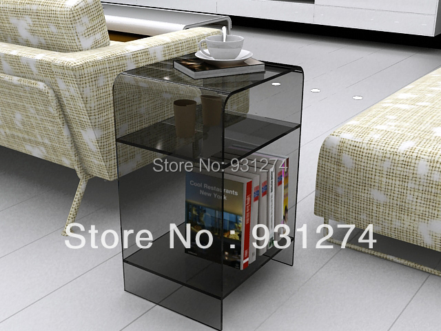 clear Acrylic SideTable/Acrylic Side Table with Shelves/Acrylic End Table / Plexiglass End Table/Acrylic Furniture<br><br>Aliexpress