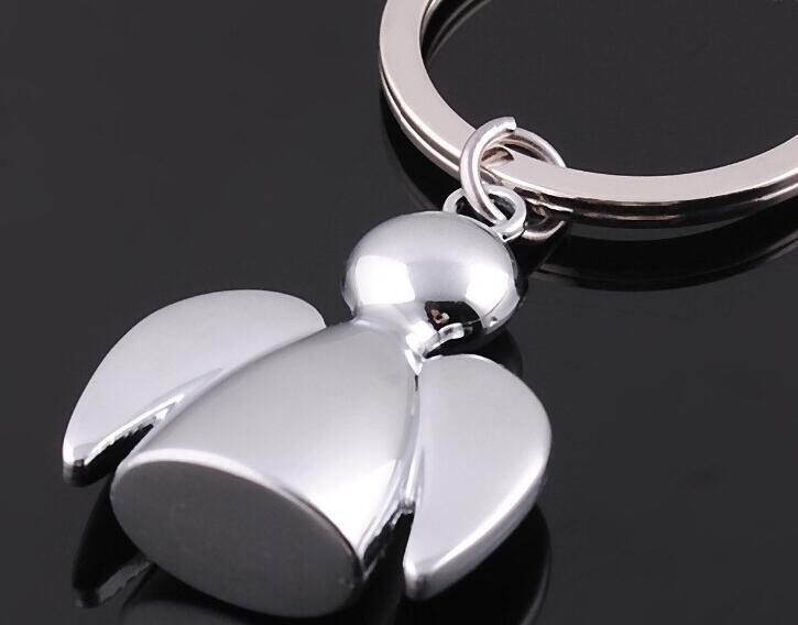 Metal Key Chains Key Ring Angel Keychains Sunny Dolls Key chain Bag Charms Key Holder 3D Simulation Model Orpheus(China (Mainland))