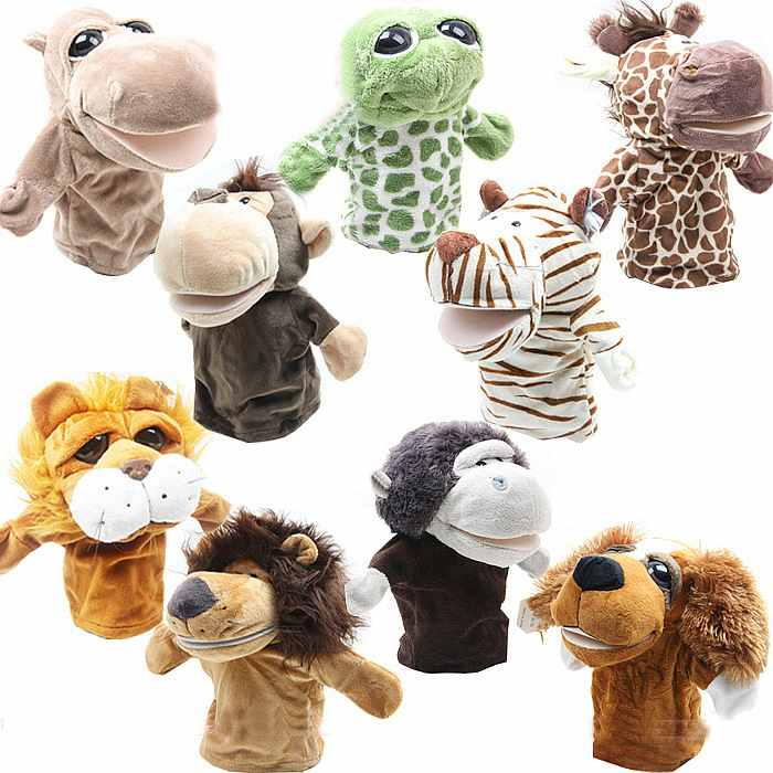 1pc/Lot Hot Large Mouth Hand Puppet Toy Animal Hand Puppet Dynamic Storytelling Essential Family Games Gifts FZ1420-FZ1424(China (Mainland))