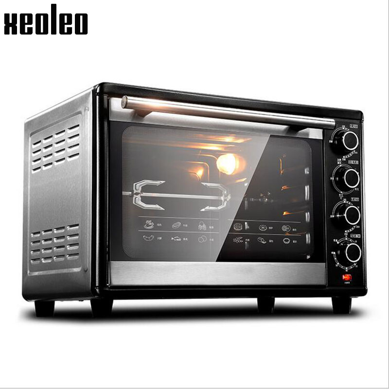 Xeoleo Baking oven 38L Electric oven Baker machine 360 degree rotate fork 60 Min timing Max 250 degree 1800W/220V Cake oven(China (Mainland))