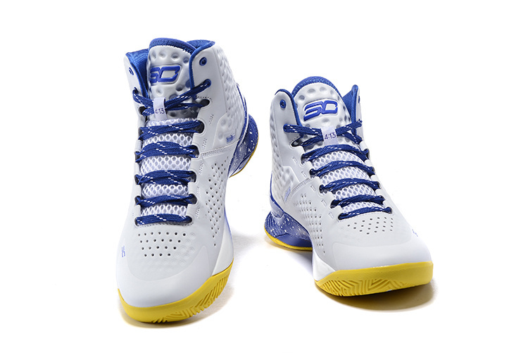 2015 Christmas White Blue Yellow Stephen Curry 1 One Basketball Shoes For Men Cheap Purple Father to Son Shoes(China (Mainland))