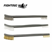 3X Brush Double-end Gun Cleaning Tool Rifle Cleaner Kit Paintball Airsoft Army Durable Stainless Steel Hunting Rifle Accessory(China (Mainland))