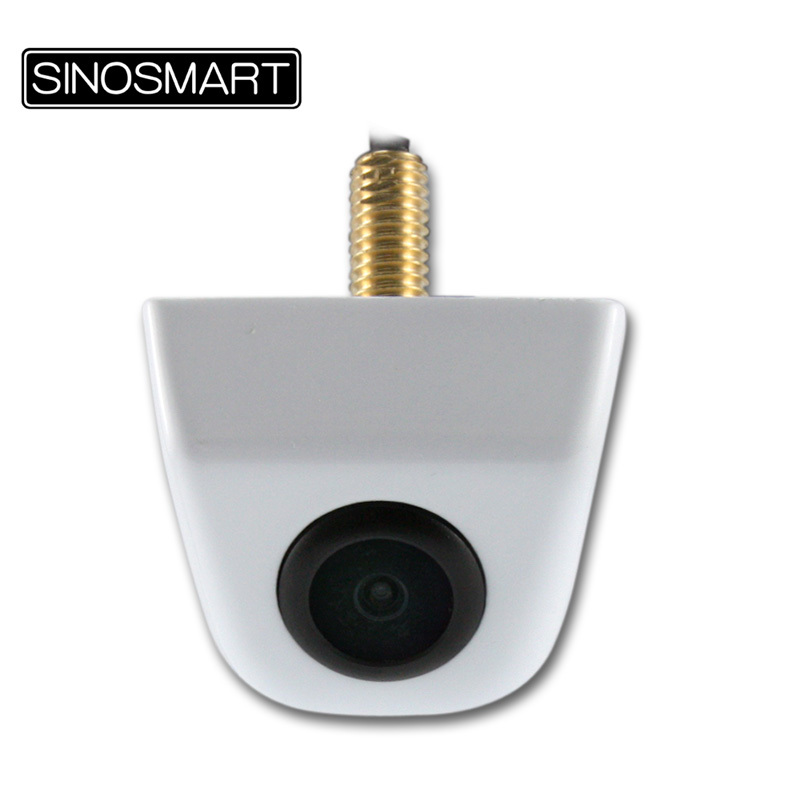 SINOSMART In Stock Hot Sale Universal HD Parking Reverse Backup Camera for Volga etc. Stainless Metal Cover 7 Colors 6mm