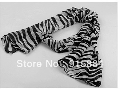 Free shipping ,Zebra stripes cotton ladies scarf Best gift for women --2009(China (Mainland))