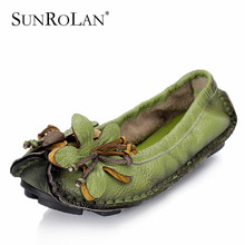 2015 spring flower decoration mother shoes handmade national trend women's shoes genuine leather soft outsole female flats 9222(China (Mainland))