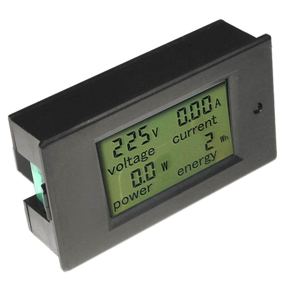 1 pc 2016 New Arrival LCD AC 80-260V 0-100A Digital Voltage Volt Current Meter Panel Power Energy Backlight function(China (Mainland))