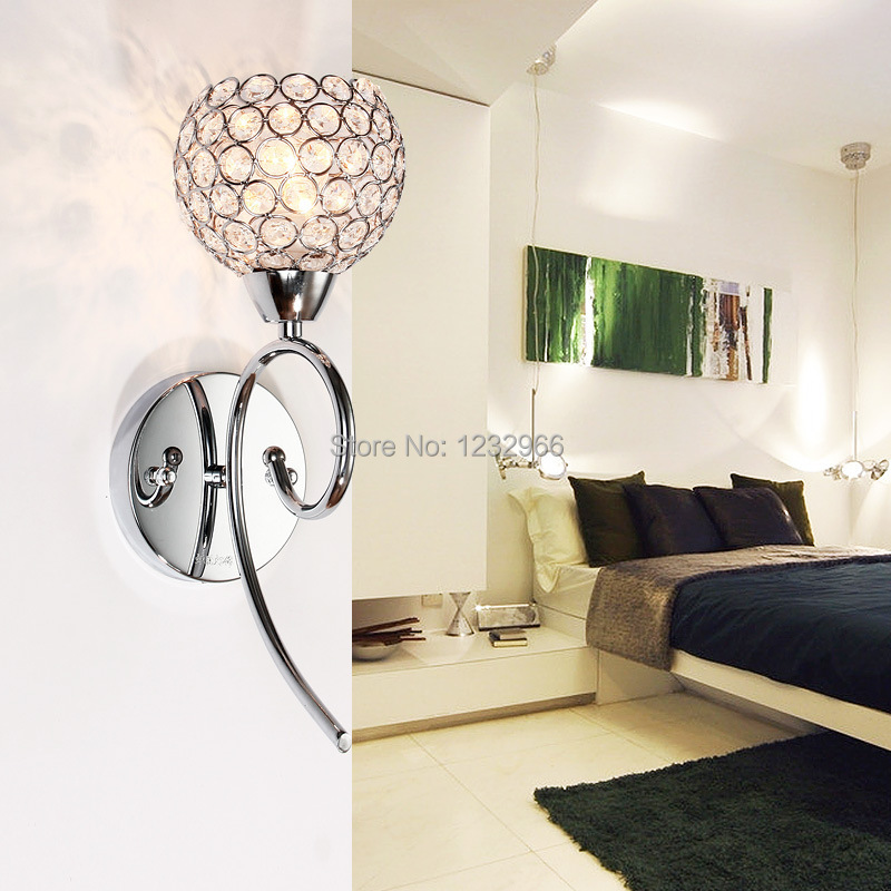 Wall Lamps Bedroom 220v  High Quality E14 Crystal Wall Lamps for Bedroom Free Shipping New Arrival  Fashion  Wall Lamps Bedroom<br><br>Aliexpress
