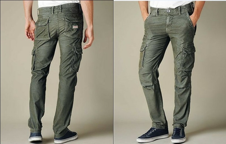 Aliexpress.com : Buy Retro Green Mens Designer Cargo Pants Size 40 ...
