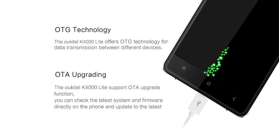 Original OUKITEL K4000 Lite Mobile Phone Android 6.0 MTK6735P 4G FDD LTE 5.0″ 2GB+16GB 4000mAh Quad Core 13.0MP Smartphone