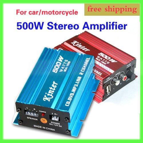 KINTER MA-150 2CH 500W MOTORCYCLE/CAR Stereo Amplifier Speakers MP3 ATV AMPLIFIER AMP AMPS - Kingbirds Electronic Co.,Ltd store