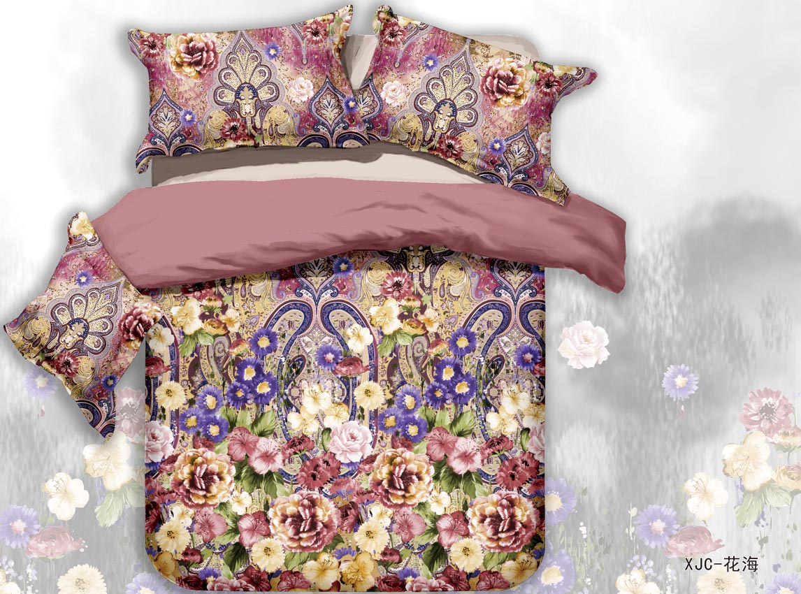 buy housse de couette marque flower oil painting designer. Black Bedroom Furniture Sets. Home Design Ideas