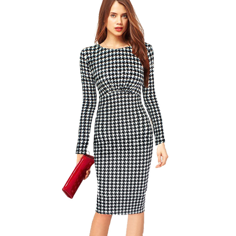 Fashionable Women Clothes 2015 Autumn Polka Dot Print Women Dresses Long Sleeve Plus Size 4XL Casual Dress Vestidos Femininos(China (Mainland))