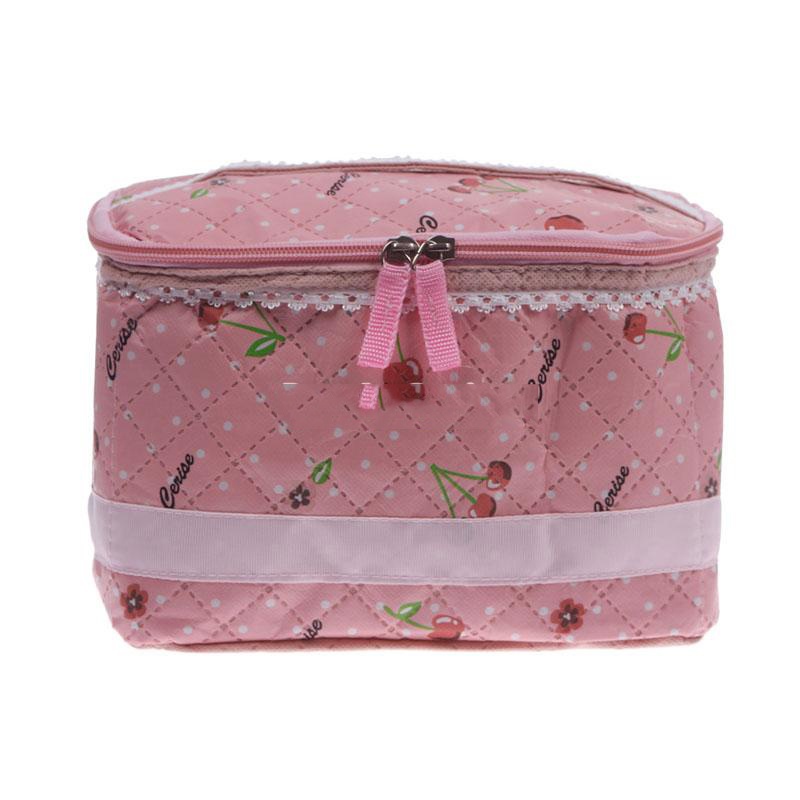 MiniBid Best choice Lady Girl Makeup Cosmetic Container Case Storage Organizer Toiletry Bag Cherry Hot promotion!(China (Mainland))