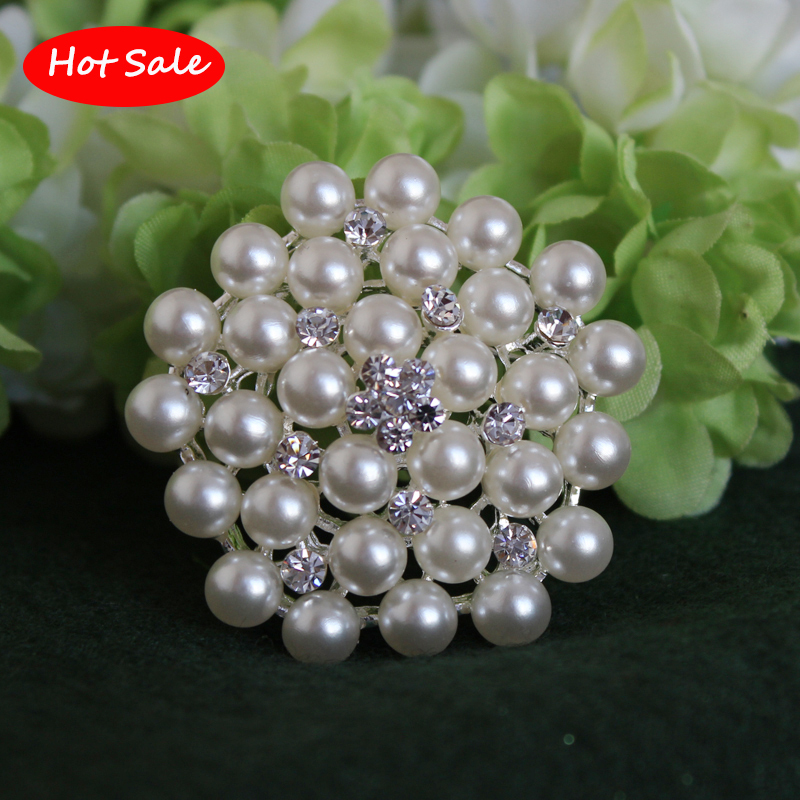 Classic!!Crystal Rhinestone And Pearl Brooch Silver plated Snowflake Style Brooches For Wedding Bouquets Christmas Gift BR172(China (Mainland))