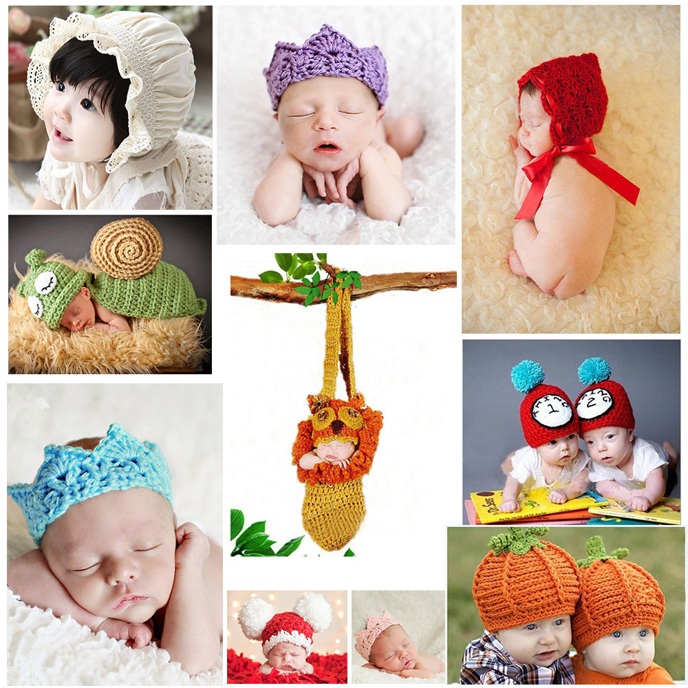 Hot sale Baby Hat Newborns Photo Photography Props Infant Knitting Baby Crochet Costume Soft Adorable Clothes(China (Mainland))
