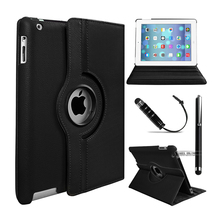 360 Rotating Premium Leather Case Cover For Apple iPad 2 iPad 3 iPad 4 Flip Stand Smart Cover Case w/Auto Wake/Sleep(China (Mainland))